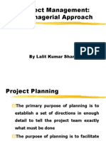 Approaches in Proj Mgmt
