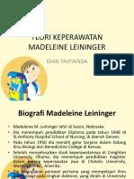 Teori Keperawatan Madeleine Leininger