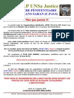 Communiqué UFAP UNSa Justice