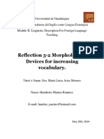 Reflection 5-2 Morphological Devices for Increasing Vocabulary