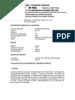 Certificado de Operatividad
