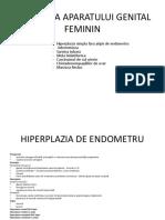 4.Patologia Aparatului Genital Feminin