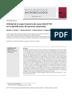 Utilidad de La Espectrometria de Masas MALDI-ToF Identificacion Anaerobios