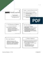 CH 1 - Statistics and Data