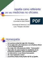 Homeopatía como referente de las medicinas no oficiales