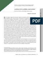 Am Rica Latina y El Problema de Las m Ltiples Modernidades11 E 2013 Revist