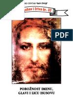 Miljenko Susac - Poboznost Imenu, Glavi i Licu Isusovu