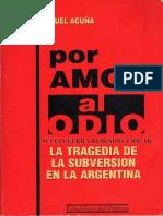 Por Amor Al Odio I - Carlos Manuel Acuña
