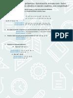 Test División Polinomios, Factorización. Teorema Resto Factor
