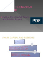Audit of Share Capital