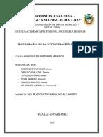 Trabajo GrupalANALISIS de SISTEMAS MINEROS La Investigacion Cientifica
