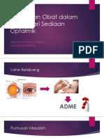Perjalanan Obat Dalam Tubuh Optalmik