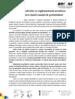 Sinteză a Normativelor Ce Reglementează Acordarea Burselor Pentru Etnicii Români de Pretutindeni