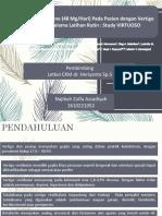 Effectiveness of Betahistine (48mg