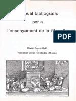 BibliografiaEnsenyamentFilosofia