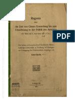 Becht, Regeste über die Zeit von Cäsars Ermordung bis zum Umschwung in der Politik des Antonius (1911).pdf