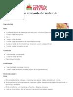 Bolo Crocante de Wafer de Morango