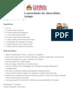 Bolo Mesclado de Chocolate, Baunilha e Morango