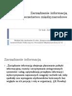BN2011 Zarządzanie Informacją, Gruszczak