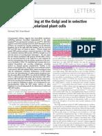 GNL1 Mutants&Golgi&Endocytosis&BFA&Polarized Cell Nature 07