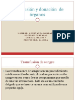 Transfusión y Donación de Órganos