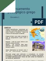 1o Encontro_O Pensamento Pedagógico Grego
