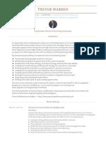 Trevor Warren Visualcv Resume