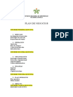 Plan de Negocios- Etapa Productiva