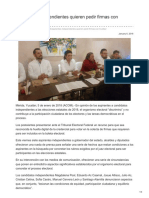 06/Enero/2018 Aspirantes independientes quieren pedir firmas con huellas