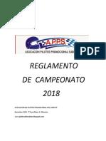 Reglamento Deportivo 2018 APPS