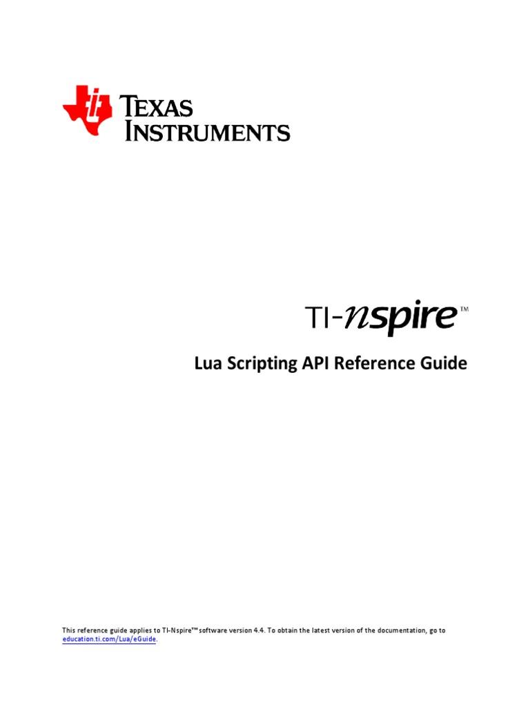 TI-Nspire-Lua-Scripting-API-Reference-Guide pdf   Computer