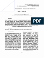 Bioethanol Production Status and Prospects