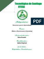 Tarea Semana I Bolivar Hernandez Recursos de Aprendizaje.