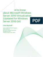 Windows Server 2016 Virtualization