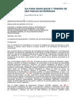 029 Norma Tecnica Despliegue Redes Fisicas Servicios Telecomunicaciones