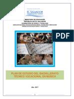 Plan de Estudios BTV en Música