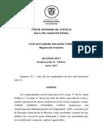 Concierto Para Delinquir - Caso Director de Inteligencia -Sp13920-2017(39931)