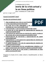 Dominar la teoria de la crisis actual y transformarla en linea politica.pdf