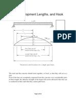 Bond Development Lengths and Hook