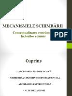 MECANISMELE SCHIMBãRII _curs bucuresti.pptx