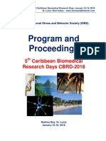 Program and Proceedings - 5th Caribbean Biomedical Research Days CBRD-2018, Jan 16-18, 2018, Rodney Bay, St. Lucia