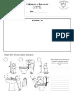 Evaluación 3° de Preescolar (Noviembre)