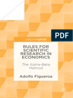 Rules for Scientific Research in Economics the Alpha Beta Method