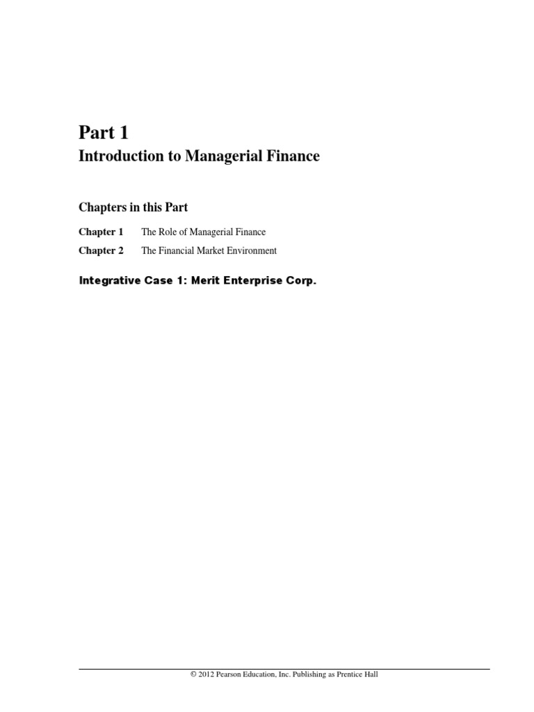 Solution Manual for Principles of Managerial Finance 13th Edition by Gitman  | Partnership | Corporations