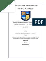 Análisis Crítico Del Impuesto a La Renta de Primera Categoría