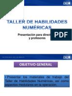 Webex Directores, Taller de Habilidades Numéricas