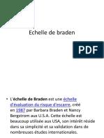 Echelle de Braden