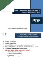Aplicaci+on de la metodologia para la elaboración de una tesis