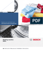 Bosch WM Manual