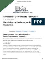 Pavimentos de Concreto Hidráulico